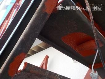 三島市ビル階段錆止め塗装