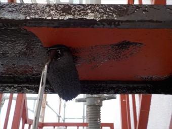 三島市ビル鉄骨階段塗装