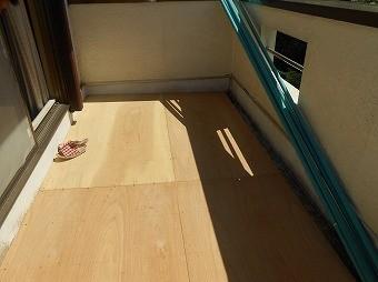 ベランダ床下地作製