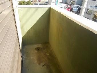 シート防水の保護塗装劣化