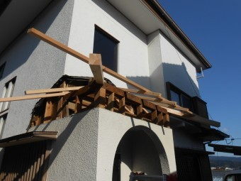 屋根下地作製