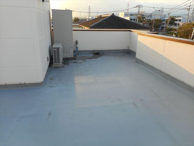 長泉町陸屋根保護防水前