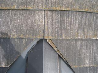施工前の屋根・隅棟