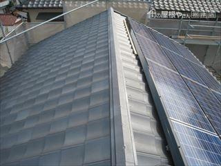 施工後ソーラーパネル設置