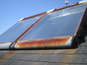 沼津市屋根塗装 屋根温水器錆