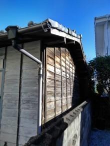 劣化した外壁羽目板