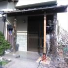 沼津市玄関屋根ジャッキアップで柱取替