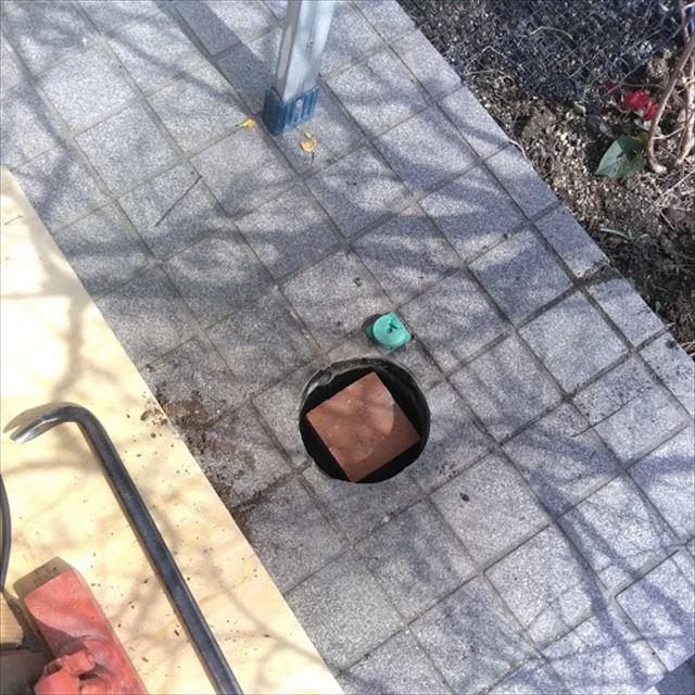 沼津市玄関屋根穴の嵩上げ