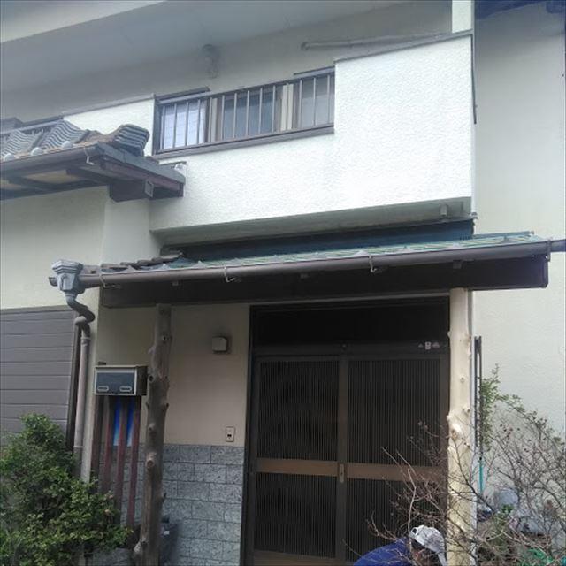 沼津市玄関屋根 柱取替完了