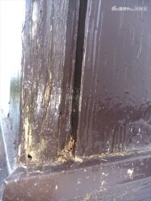 化粧柱の腐食