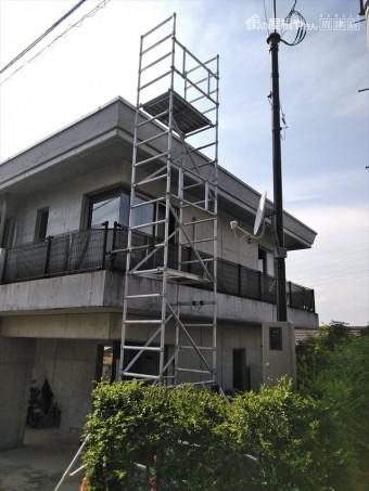 伊豆の国市簡易足場設置