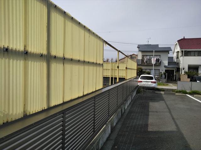 沼津市の塀のポリカの現場調査に行きました。