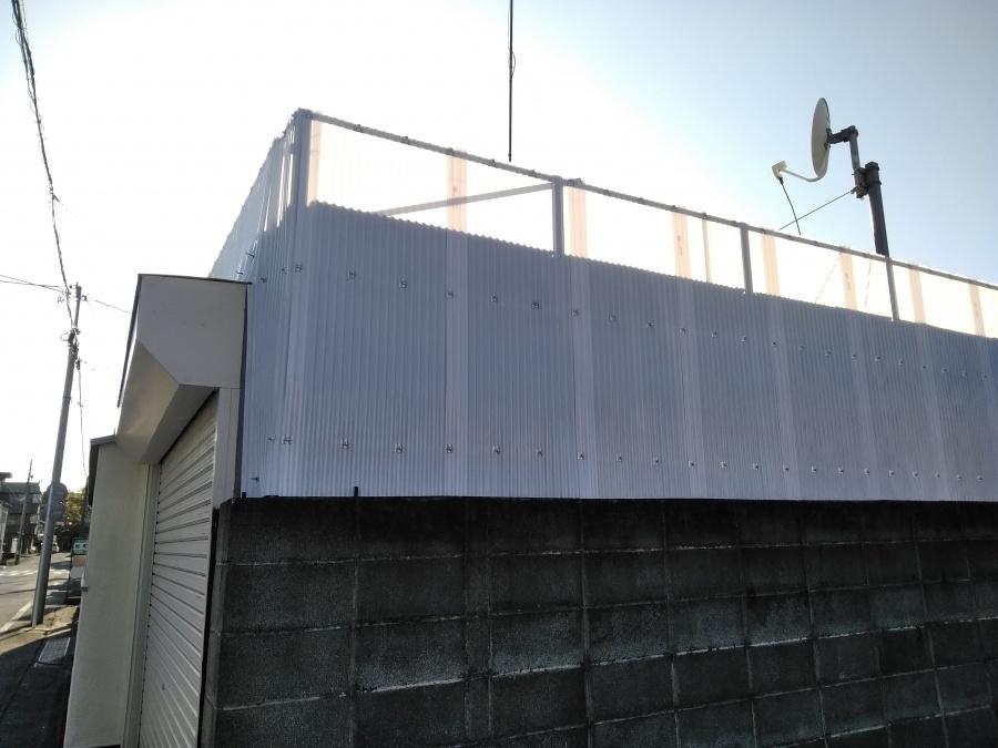 沼津市でポリカーボネートの波板を貼りました。
