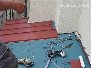 屋根と外壁取り合い部分