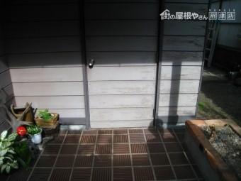 木製ドア塗装剥がれ