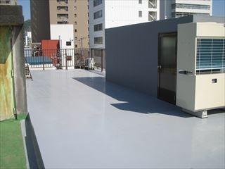 屋上防水完成
