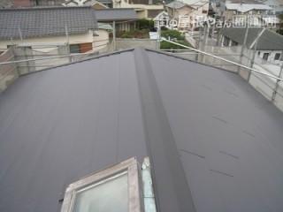 屋根噴き替え施工後