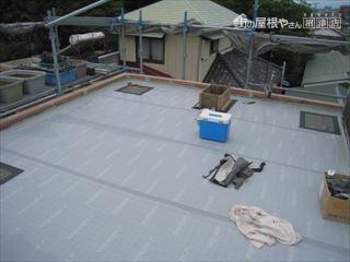 屋上工事の様子