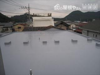 屋上防水完成写真