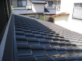 地震対策前の瓦屋根