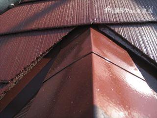 施工後の屋根・隅棟