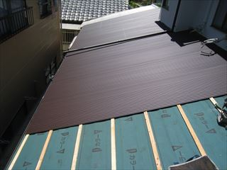 ガルバ屋根取付