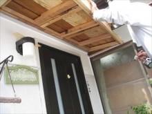 玄関屋根下地木