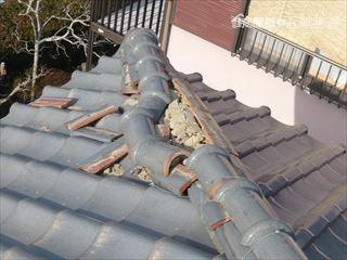 屋根棟のズレ