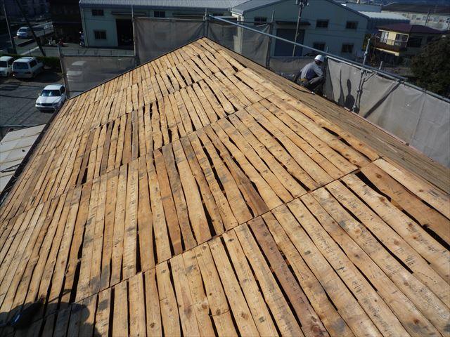 沼津市 屋根の野地板状況