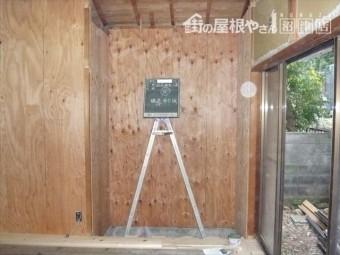 耐震工事で構造合板
