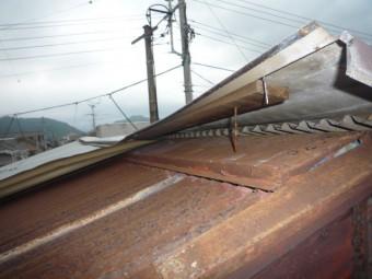 屋根剥がれ