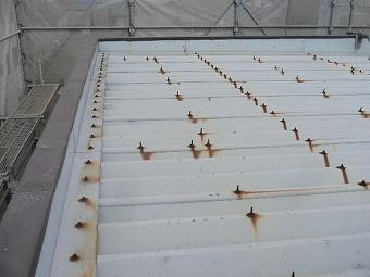 折板屋根塗装前
