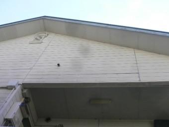 熱海市木造アパート破風板塗膜劣化