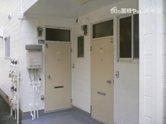 熱海市アパート塗装仕上がり