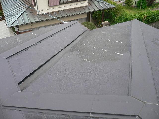 コロニアル屋根修理跡