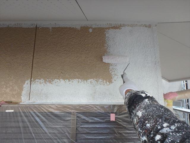 三島市外壁塗装工事中