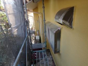 三島市外壁塗装ビニール養生