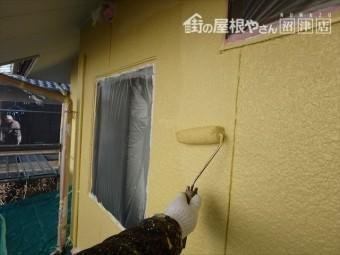 外壁塗装二度塗り