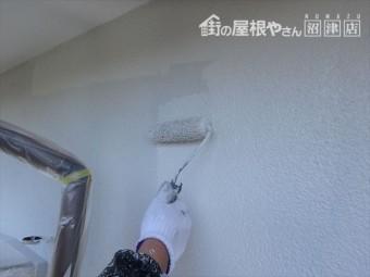 長泉町平屋上塗り塗布