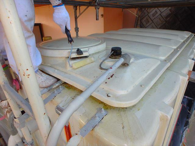 三島市給水槽塗装