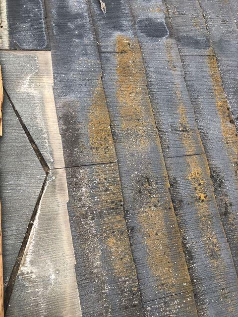 コロニアル屋根破損