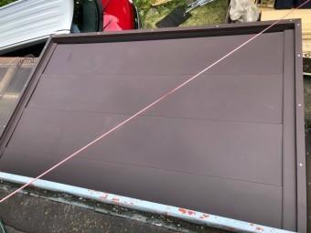 長泉町玄関ポーチ鋼板ガルバリウム葺き