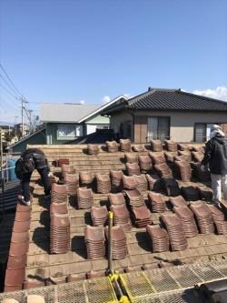 伊豆の国市瓦屋根葺き替え