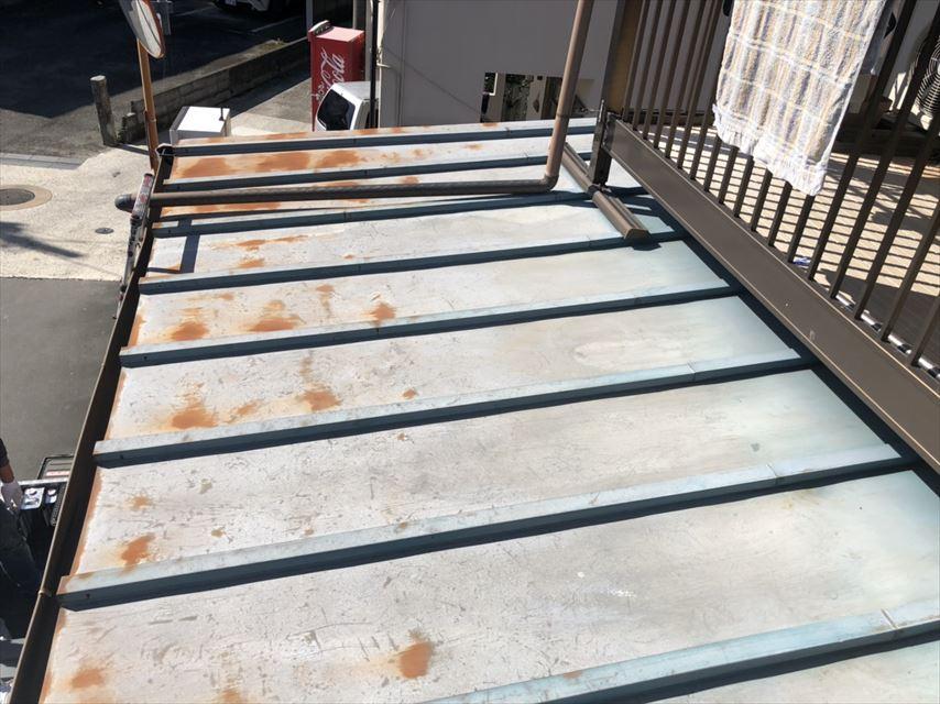 三島市桟葺き屋根劣化