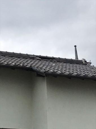 沼津市 台風被害の屋根 棟瓦状況