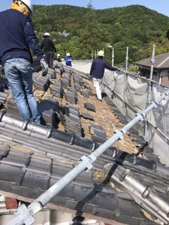 伊豆市葺き替え瓦屋根
