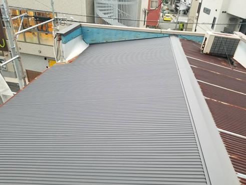 沼津台風トタン屋根施工後