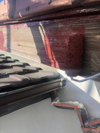 沼津市破風板塗装劣化