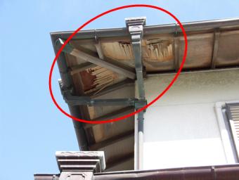 三島台風軒天破損