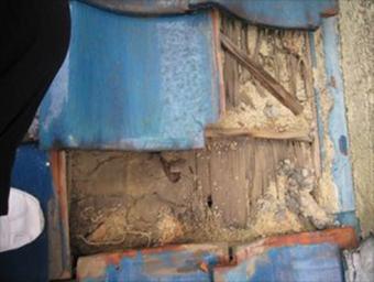 三島瓦屋根下地腐食